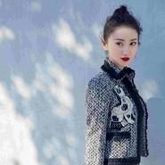 景甜Gucci格纹刺绣套装优雅知性
