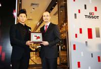 吴奇隆参加天梭力洛克机械情侣对表广州发布