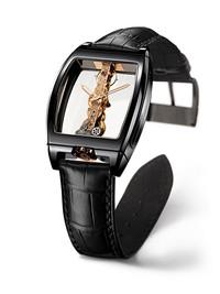 昆仑全新陶瓷制金桥腕表 直线式透明艺术的美学