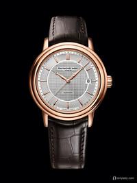 蕾蒙威2013巴塞尔新品经典大师玫瑰金大三针腕表