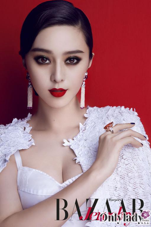 ...美人依旧   范冰冰登时尚杂志封面 烈焰红唇美人依旧   大片...