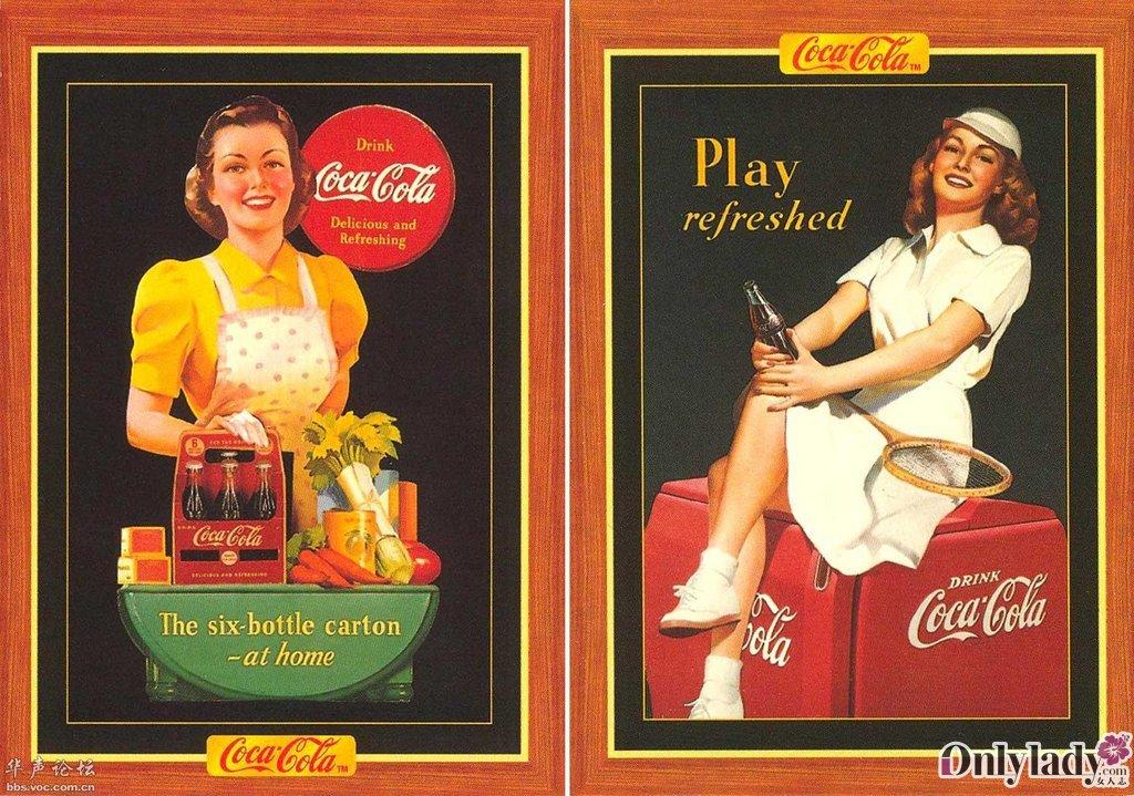 经典可口可乐海报 让人惊艳的复古风